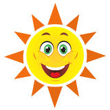 Cute sun Stock Photography