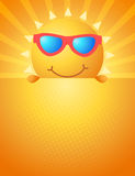Cute sun summer background Stock Images