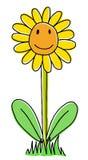 Cute sunflower. Joy hand drawn sunflower, cartoon illustration royalty free illustration