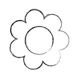 Cute sunflower drawing icon Stock Photography
