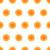 Cute suns seamless pattern Royalty Free Stock Photo
