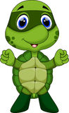 Cute super turtle cartoon Royalty Free Stock Photography