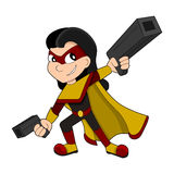 Cute superhero girl cartoon Stock Photo