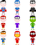 Cute superheroes Royalty Free Stock Photo