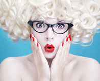 Cute surprised blonde Royalty Free Stock Images