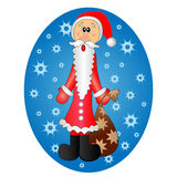 Cute surprised Santa Claus Stock Images
