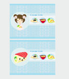 Cute sushi cartoon illustration Royalty Free Stock Photography