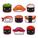 Cute sushi set Stock Image