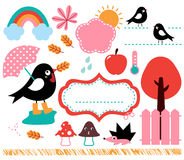 Cute Swallow and autumn Royalty Free Stock Photos