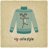 Cute sweater old background Royalty Free Stock Images