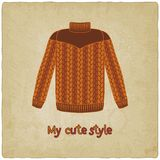 Cute sweater old background Royalty Free Stock Photos