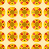 Cute sweet colorful donut seamless pattern dessert illustration Royalty Free Stock Image