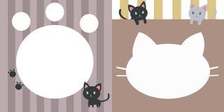 Cute sweet kitten doll message Stock Photos