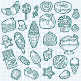 Cute sweets icons. Royalty Free Stock Photo