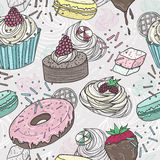 Cute sweets seamless pattern Stock Images