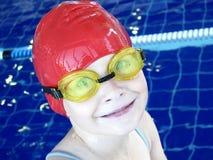 Cute swimmer stock photo