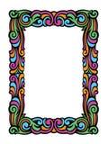 Cute Swirly Frame of Colorful Retro Swirls Stock Photo