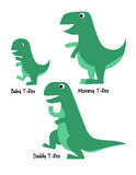 Cute T- Rex Family Royalty Free Stock Photography