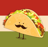 Cute taco stock illustration