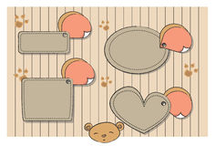 Cute tags set. Set of cute  tags Stock Image