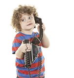 Cute talking boy Stock Images