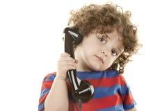 Cute talking boy Stock Image