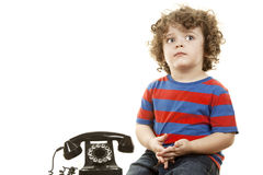 Cute talking boy Royalty Free Stock Images