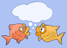 Cute talking fish Royalty Free Stock Photo