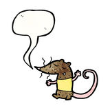 Cute talking mouse cartoon Stock Photos