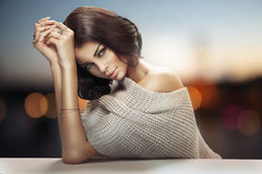 Cute tawny woman with beautiful eyes Royalty Free Stock Image