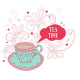 Cute tea cup Royalty Free Stock Photo