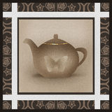 Cute tea time menu for restaurant, cafe, bar, tea-house illustra Royalty Free Stock Photography