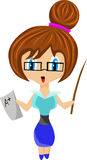 Cute teacher Royalty Free Stock Image