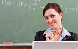 Cute teacher Stock Photos