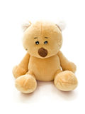 Cute teddy bear. Isolated on white Stock Images