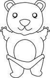 Cute Teddy Bear. Vector illustration of a teddy bear Royalty Free Stock Photo