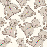 Cute teddy bear background Stock Images