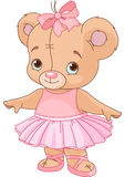 Cute Teddy Bear Ballerina royalty free stock photo