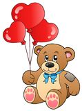 Cute teddy bear with balloons Royalty Free Stock Image