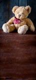 Cute Teddy Bear Bookmark Royalty Free Stock Photos
