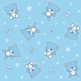 Cute teddy bear boy seamless background Stock Image