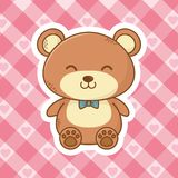Cute teddy bear cartoon royalty free illustration