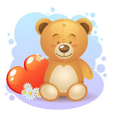 Cute teddy bear children toy Stock Image