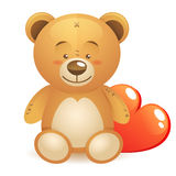 Cute teddy bear children toy Stock Photography
