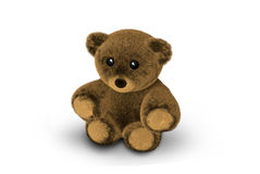 Cute Teddy Bear 3D Render. Graphic Royalty Free Stock Image