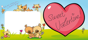 Cute teddy bear design with valentine heart - vector Stock Photo
