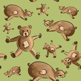 Cute teddy bear fabric pattern royalty free stock image