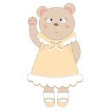 Cute Teddy bear girl Stock Photo