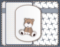Cute Teddy Bear greeting card Royalty Free Stock Photos