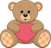 Cute teddy bear with a heart Stock Image